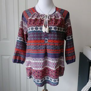 Bohemian gypsy peasant top from 19 Cooper